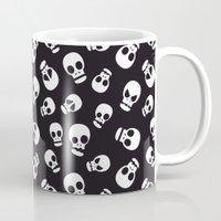 skulls Mugs featuring Skulls by Sara Showalter