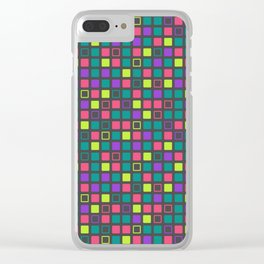 Night On The Town Square Pattern Clear iPhone Case