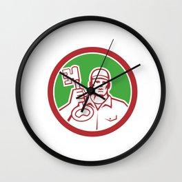 Locksmith Carry Key Circle Retro Wall Clock