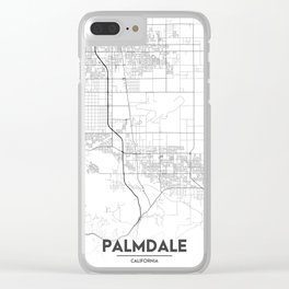 Minimal City Maps - Map Of Palmdale, California, United States Clear iPhone Case