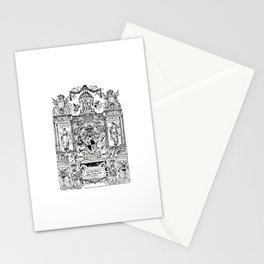 Antique Bookplate Art - Victorian Angels & Architecture Stationery Cards