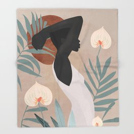 Tropical Girl 4 Throw Blanket