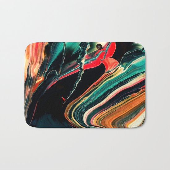 ABSTRACT COLORFUL PAINTING II-A Bath Mat