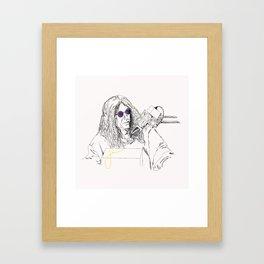 King of All Media Framed Art Print
