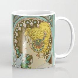 """Alphonse Mucha """"Feather"""" Coffee Mug"""