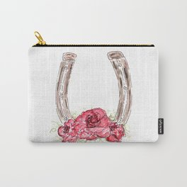 Derby Horseshoe, Roses, Kentucky, Races Carry-All Pouch