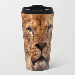 Lion Portrait Travel Mug