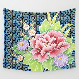 Brocade Bouquet Wall Tapestry