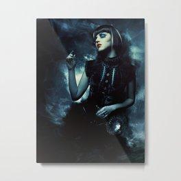 La dame des ombres Metal Print