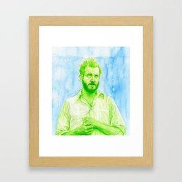 """Justin Vernon """"Bon Iver"""" Framed Art Print"""