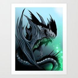 Strange beast: Battyrna Art Print
