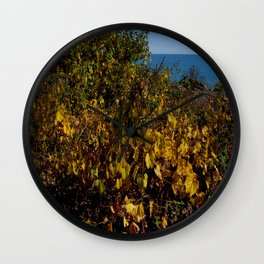 Fall Gold on the Lake Shore (Chicago Northerly Island Collection) Wall Clock