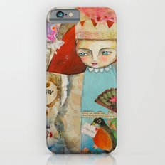Your story matter - girl and bird inspirational art iPhone 6s Slim Case