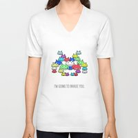 boss V-neck T-shirts featuring invader boss by techjulie