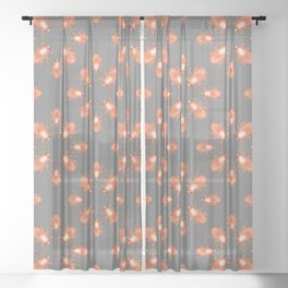 Copper Beetle Sheer Curtain