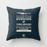 katniss Throw Pillows featuring Katniss Everdeen  by thatfandomshop