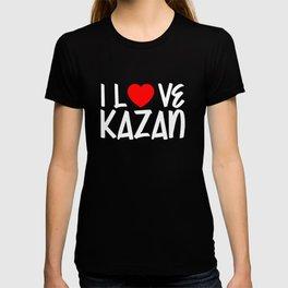 I Love KAZAN Pride Country T-shirt