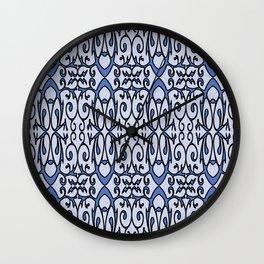 Blue Lace Design Wall Clock