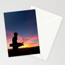Longboard Silhouette Stationery Cards
