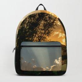 Sunset at village Backpack
