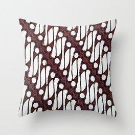 the parang batik pattern Throw Pillow