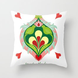 12 Days of Christmas - Two Turtle Doves Throw Pillow