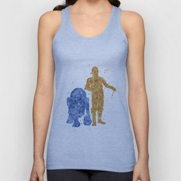C3PO and R2D2 Star . Wars Unisex Tank Top