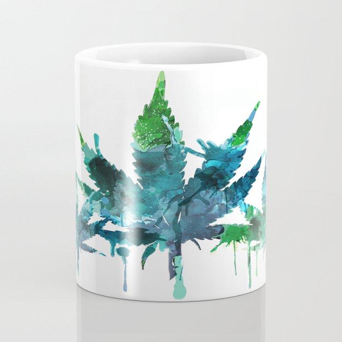 Blue Abstract Mary Jane Coffee Mug