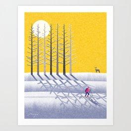 Ski holidays Art Print