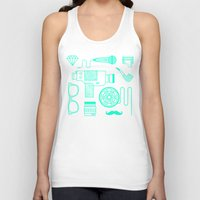 movie posters Tank Tops featuring Movie by cyrixDesign