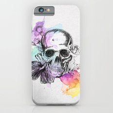 Skull flowers iPhone 6s Slim Case