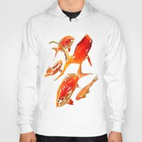 goldfish Hoodies featuring Goldfish by Regan's World