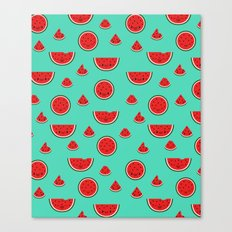Watermelon Pattern Canvas Print