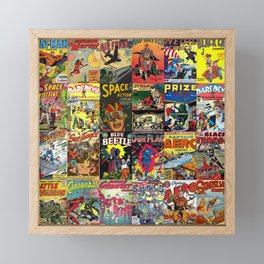 Comic Book Collage II Framed Mini Art Print