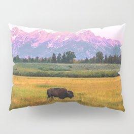 Grand Tetons Bison Pillow Sham
