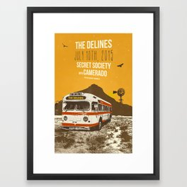 THE DELINES @ SECRET SOCIETY JULY 10TH, 2015 POSTER Framed Art Print