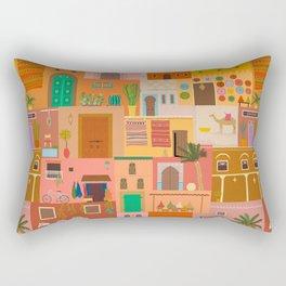Marrakesh: The Red City Rectangular Pillow