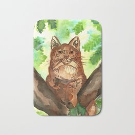Lynx in the Forest Bath Mat