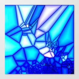 Glowing blue Canvas Print