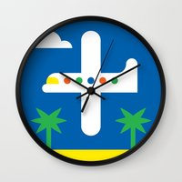 airplane Wall Clocks featuring Airplane by Alberto Antoniazzi