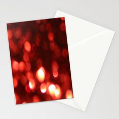 Red Blurred Lights Stationery Cards