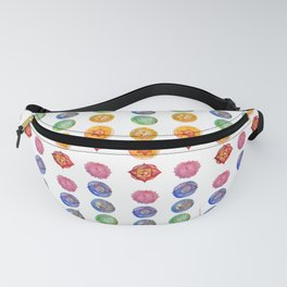 Seven Chakra alligned Watercolor art Fanny Pack