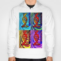 dna Hoodies featuring DNA by Art By Carob