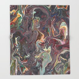 Abstract Oil Painting 22 Throw Blanket