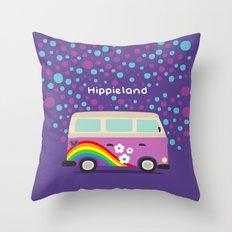 Hippie Land Throw Pillow