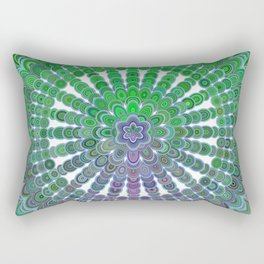 Spring Mandala Wheel Rectangular Pillow