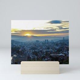 Sunset and Sarajevo Mini Art Print