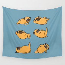Total Pug Abs Workout Wall Tapestry