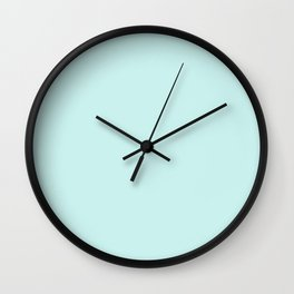 Solid Color Series - Cyanish White Wall Clock