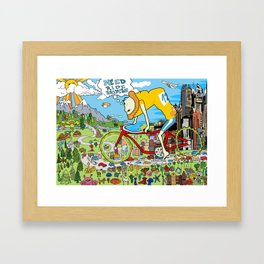 Need Ride Bicycle Framed Art Print